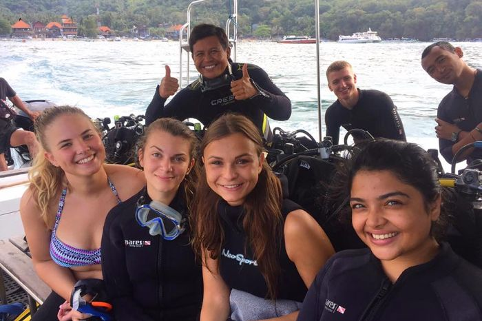 Girls on OK Divers Boat