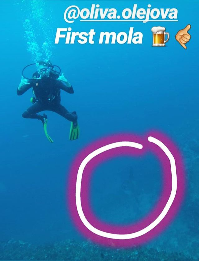 Lila Mola Mola dive with OK Divers Padangbai