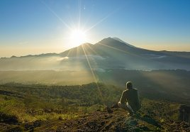 Sunrise trecking to Mount Agung