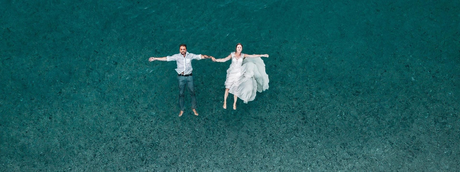 Wedding in the water