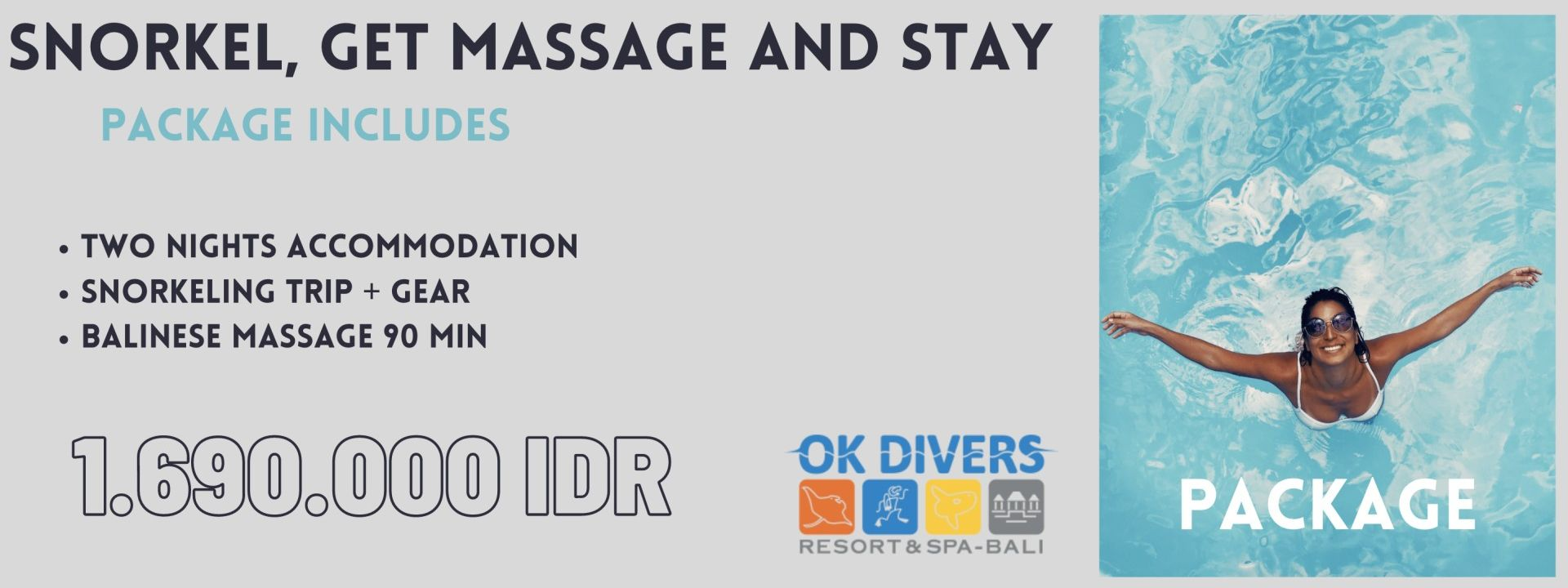 Snorkel, get massage and stay package
